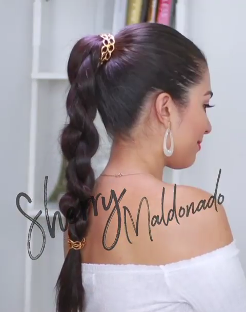 "Sherry Maldonado on Instagram: ""Super easy way to 3D round braid 😱 Give your ponytail a subtle touch with this super easy braiding method! 💕hope you love it 🤗yah your…"""
