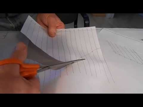 making a template to miter pipe