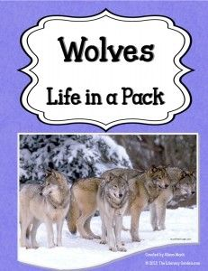 The Literacy Garden Wolf Life Thematic Units Writing A Book