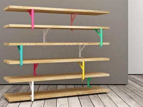Man Kann Ekby Tryggve, Mula Und Ekby Töre, Drei Einfache Ikea Produkte, So  Kreativ Miteinander Verbinden, Dass Ein Freistehendes Bücherregal Entsteht.