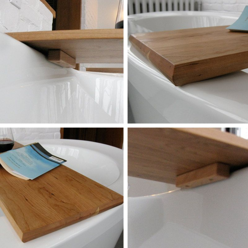 Wood Bath/tub caddy/platter/tray of salvaged wood spa natural ...