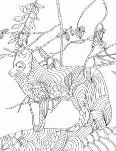 Download this FREE Fox Adult Coloring page from the Nature Patterns ...