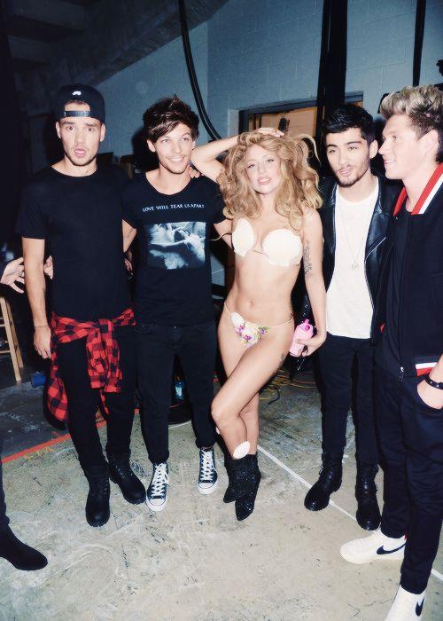1D and Gaga.