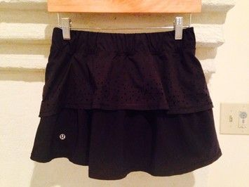Lululemon Black In A Flash - 2 Way Stretch Skirt $50