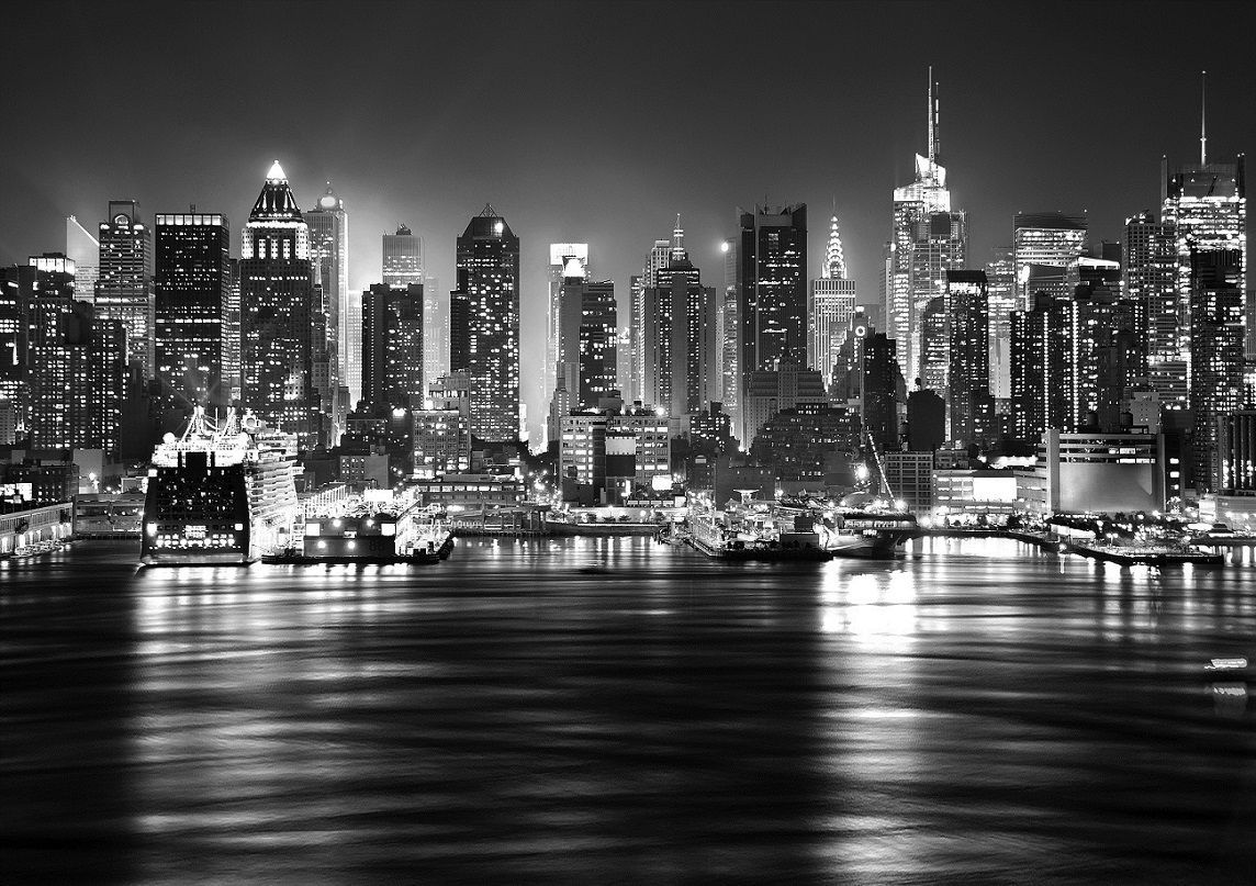bwfullwallnewyorkskylinedecoratingphotowallpaper