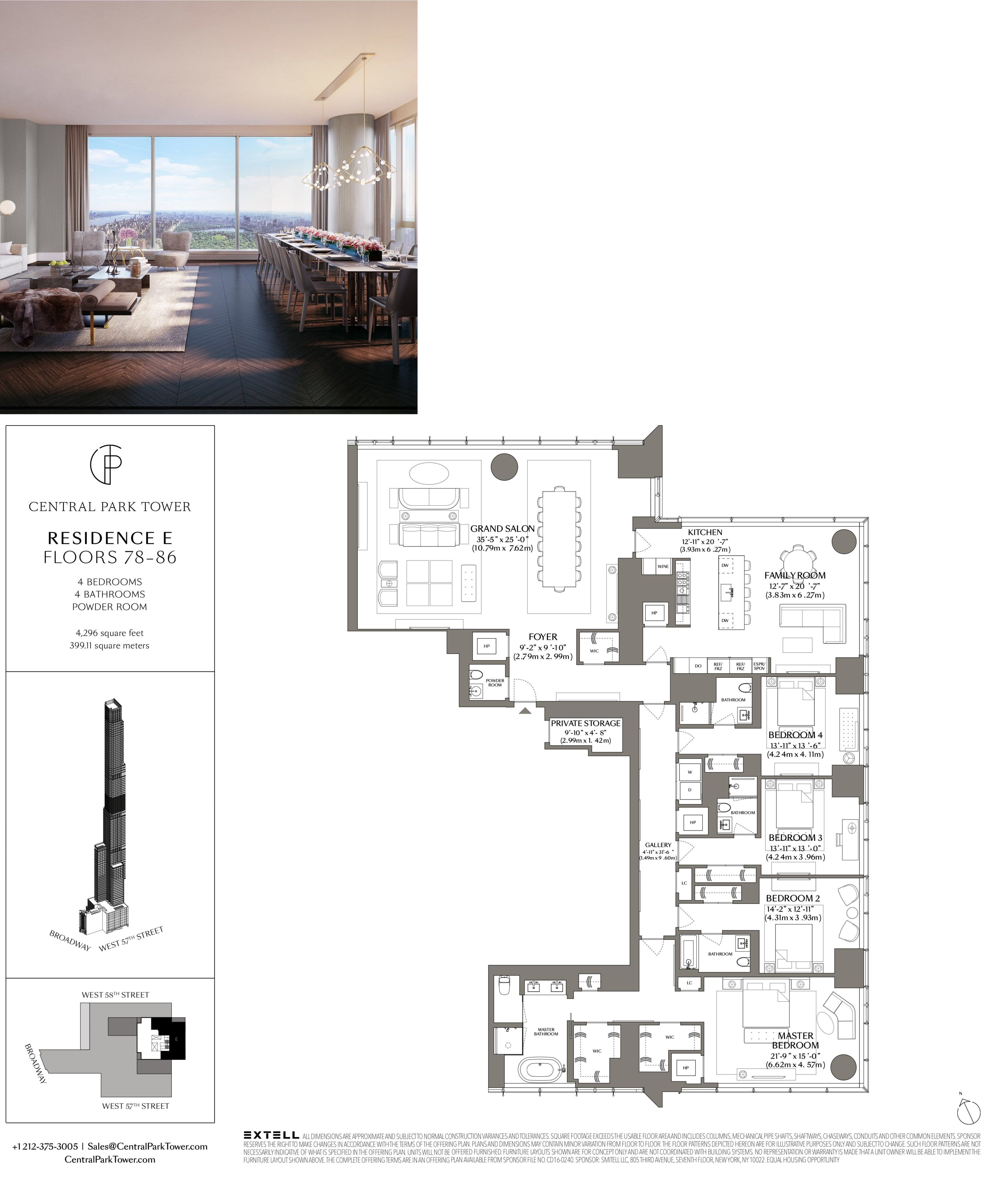 Central Park Tower Residence E Penthouse Apartment Floor Plan Apartment Floor Plans City Living Apartment