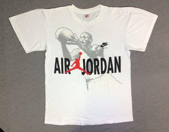4f35ce4eb8ec28 NIKE Air Jordan Shirt 90 s Vintage  RARE Hare Jordan Bugs Bunny Grey ...