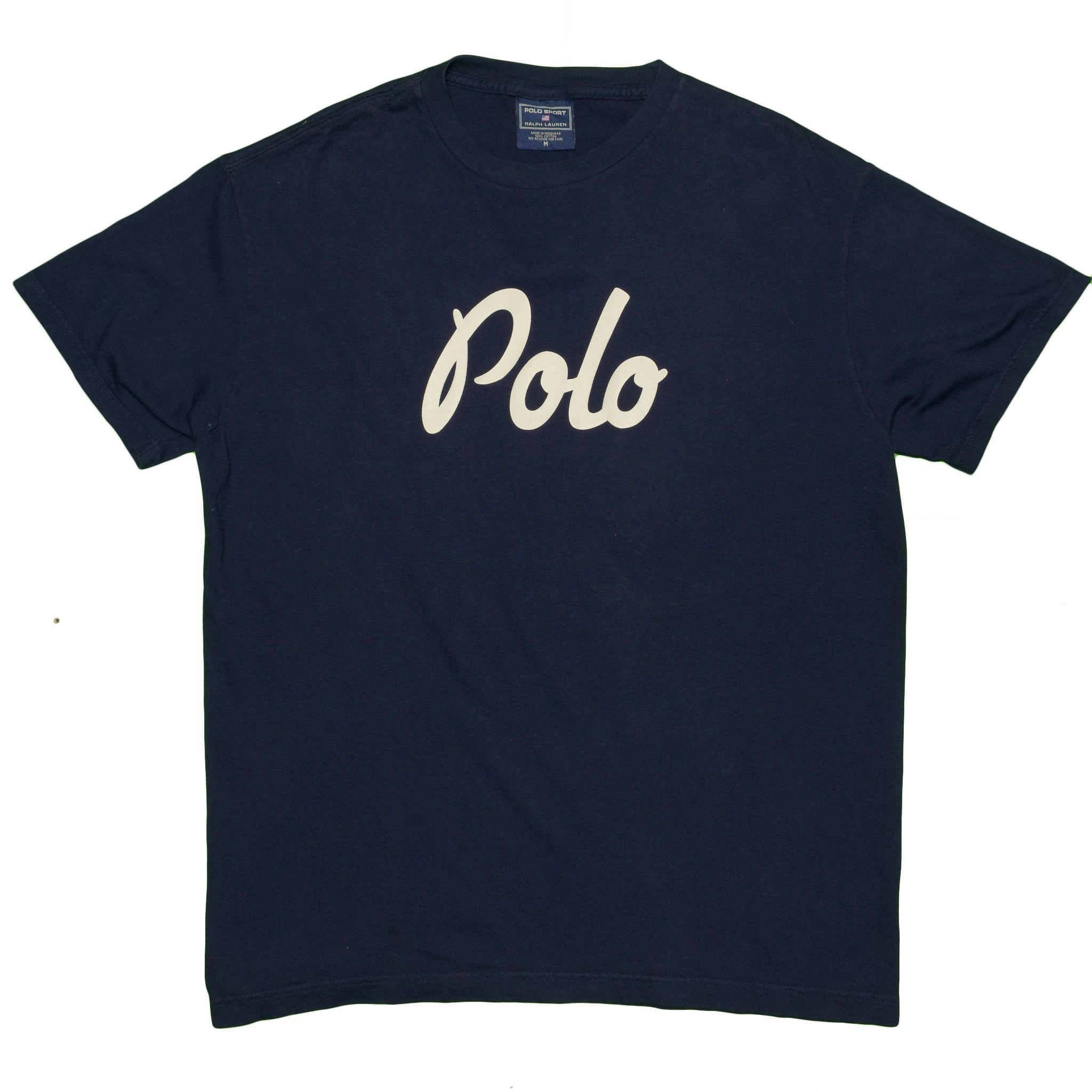 Vintage Polo Sport Ralph Lauren TShirt Men's Medium Navy