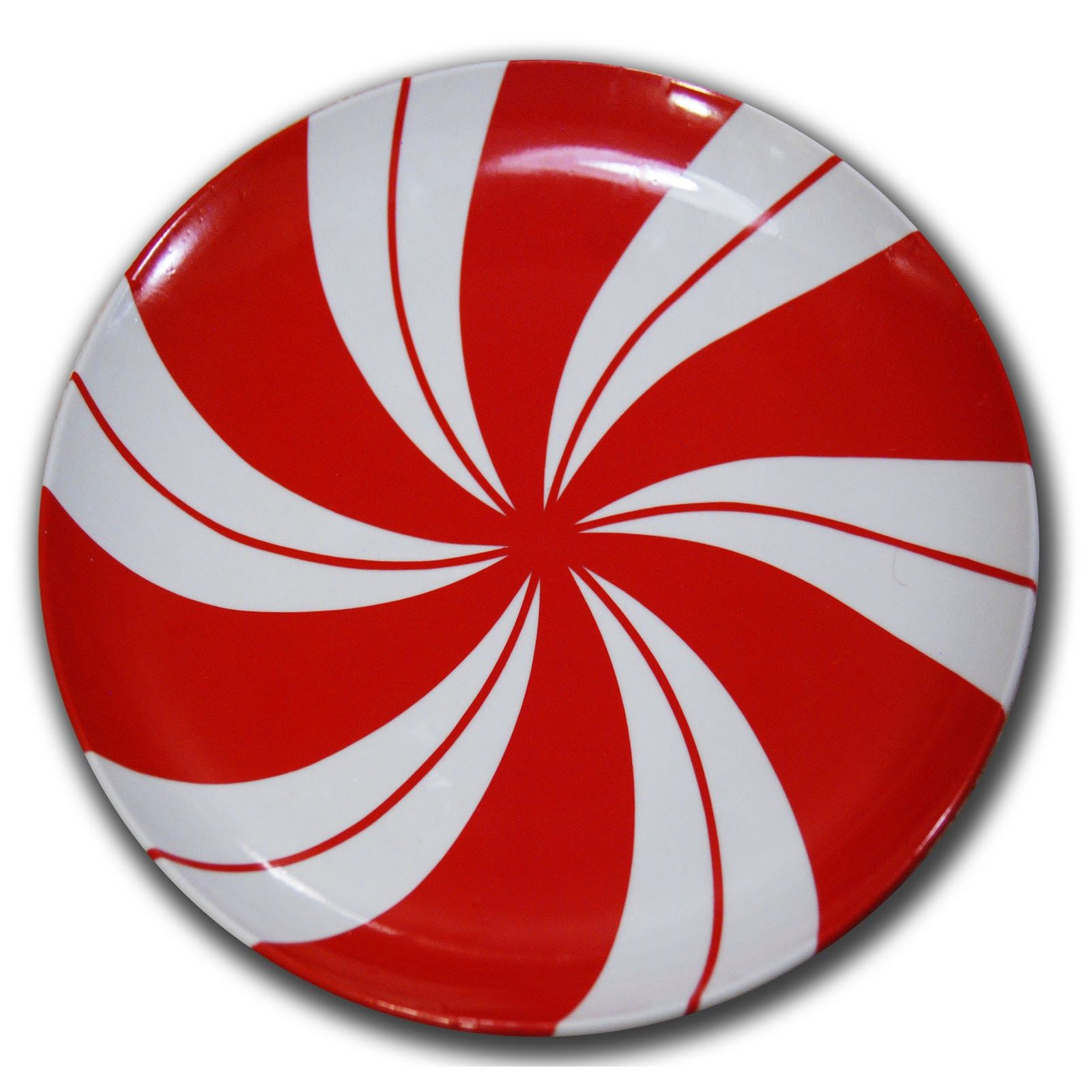 Burton Avenue Peppermint Candy Plate With Vinyl