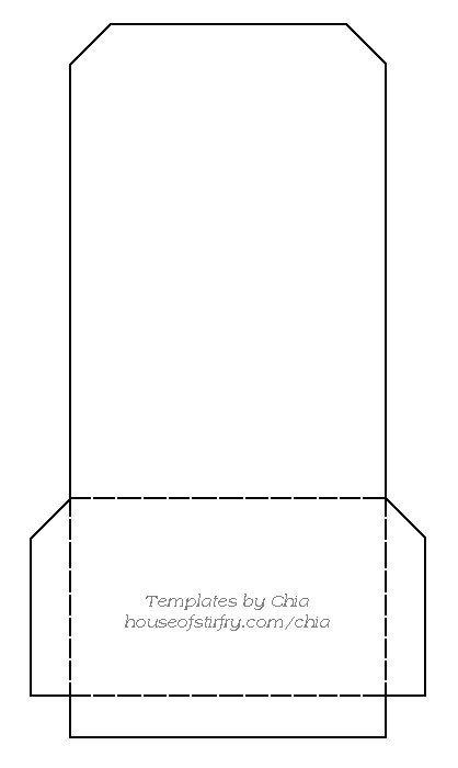 Chia'S Rubberstamp Art Templates. Library Pocket | Cards Etc