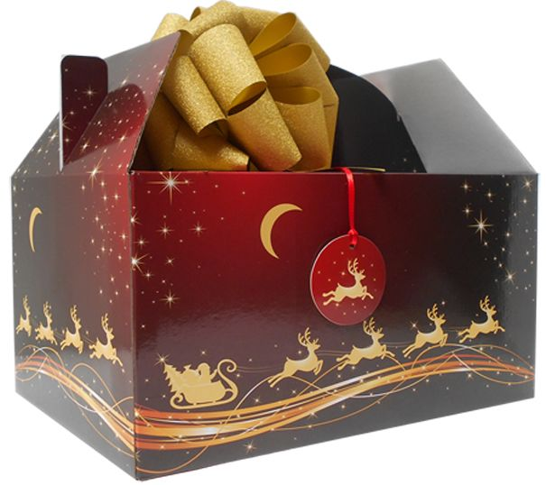 this gable box gift kit has everything you need to make a lovely christmas gift hamper included isa quality gable box made from cardboard printed