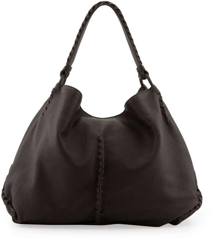 Bottega Veneta XL Cervo Shoulder Bag 0a55639af3f75