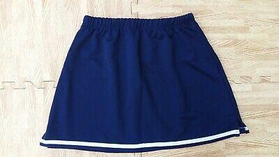 eBay #Sponsored ADULT XL NAVY BLUE Cheerleader Uniform A-Line Mini Skirt 32-35