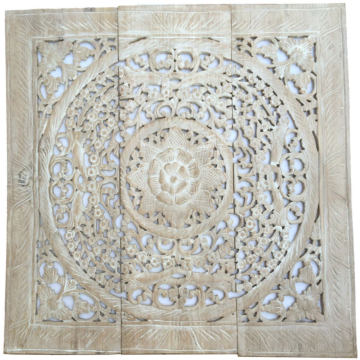 Set of large wood carved panels large decorative carved wood wall