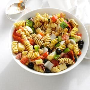 Homemade Antipasto Salad Recipe from Taste of Home -- shared by Linda Harrington of Windham, New Hampshire