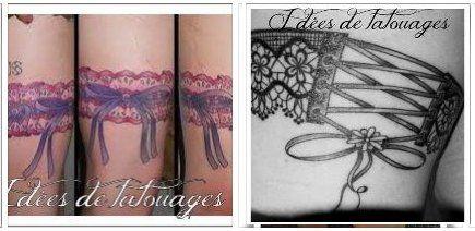 Tatouages de Lacets et Jarretières pour Femme 2012
