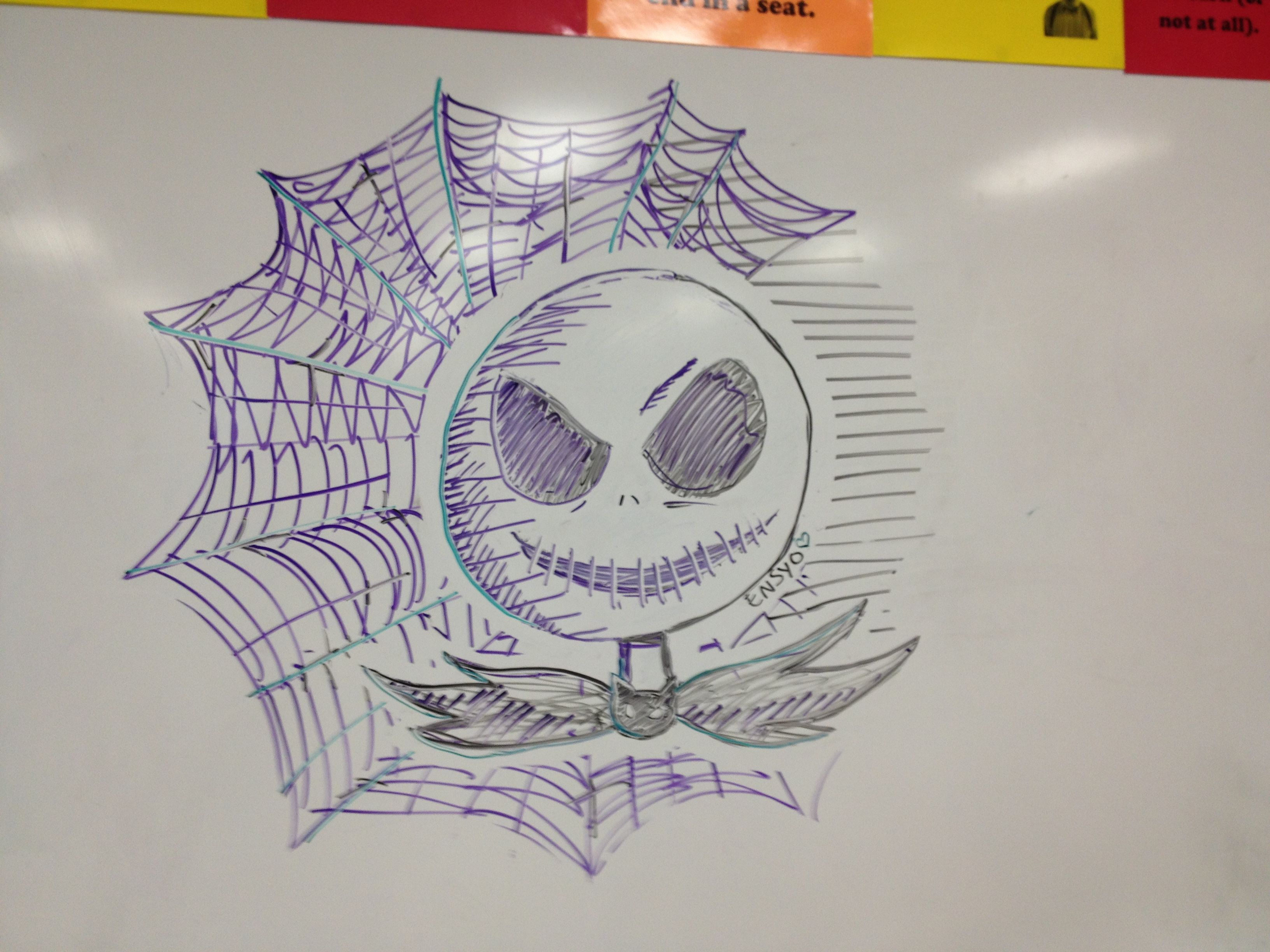 Awesome drawing in expo marker on the board in my class! All