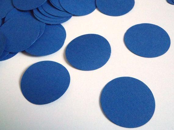 blue circles confetti wedding baby shower diy by LaSoffittaDiSte