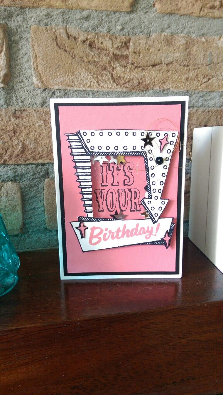 Stampinu up birthday card cardsmarquee messages pinterest