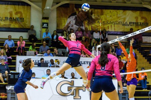 Teegan Van Gunst Georgia Tech Volleyball Female Volleyball Players Volleyball News Georgia Tech Yellow Jackets