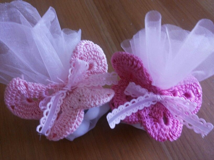 Farfalle Calamite Portaconfetti Uncinetto Crochet Bomboniere