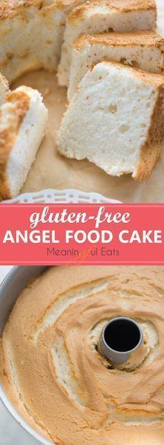 Gluten-Free Angel Food Cake! The BEST-tasting angel food cake you'll ever eat via meaningfuleats.com #angelfoodcake #glutenfree #glutenfreedesserts #glutenfreecake #summerdesserts #glutenfreeangelfoodcake #angelfoodcakedesserts