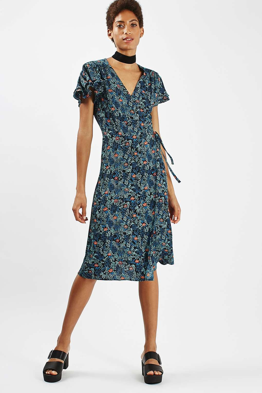 Tall Ditsy Floral Wrap Dress Wrap Dress Floral Clothes Short Sleeve Dresses [ 1530 x 1020 Pixel ]