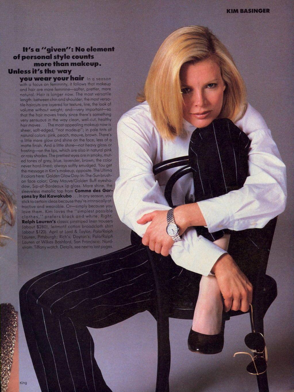 Kim Basinger For Vogue 1983