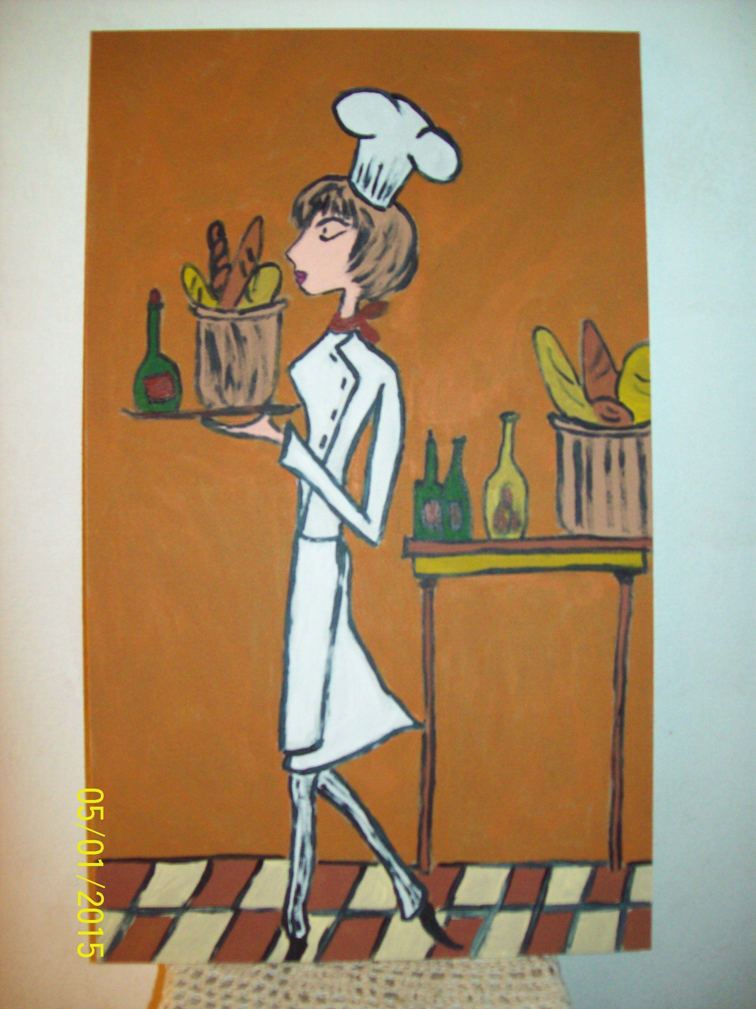Cuadros para la cocina pintando pinterest - Cuadros de cocina ...