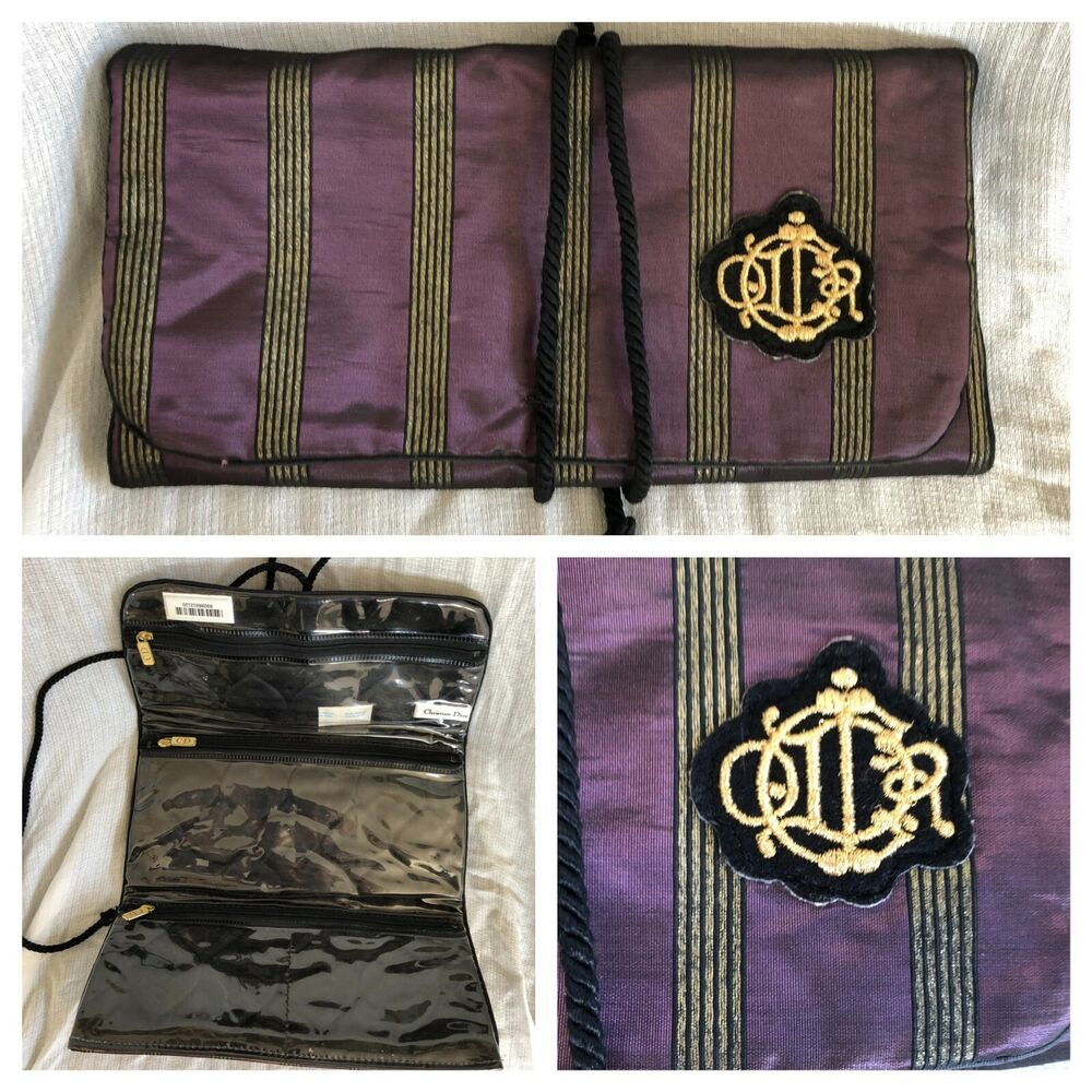 Christian Dior Trifold Cosmetic Travel Makeup Bag Case