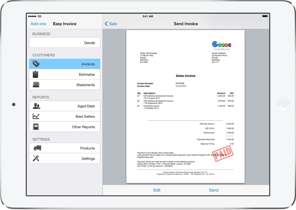 Invoice Template For Iphone Apcc throughout Free Invoice