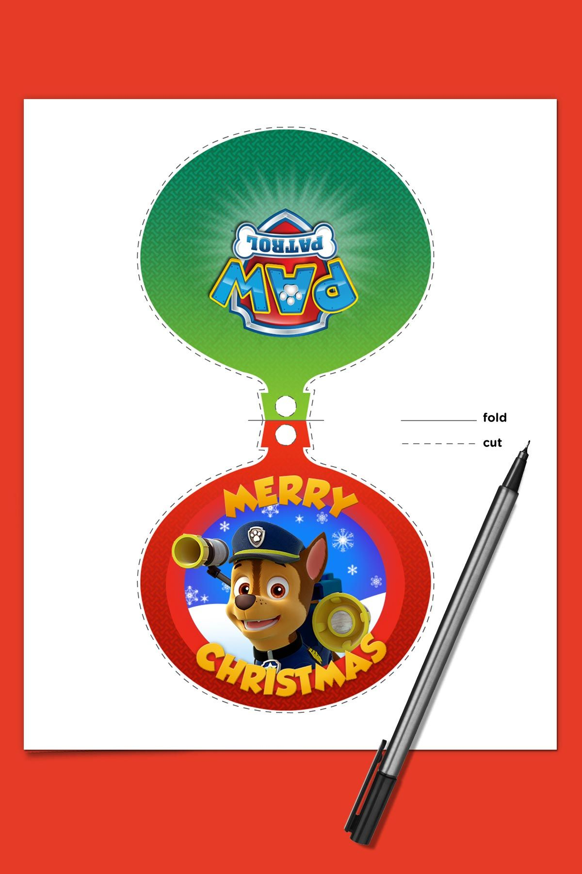 Chase On The Christmas Case Paw Patrol Christmas Christmas