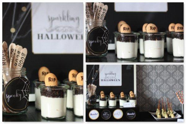 dessert halloween nachtisch Halloweenparty Halloweendeko Halloween DIY  www.pickposh.de