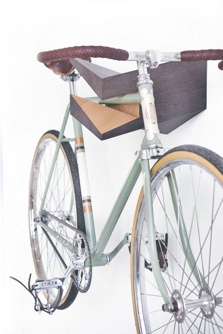 Fahrradhalterung Wand Selber Bauen Ideen Holz Moern Eckig Design