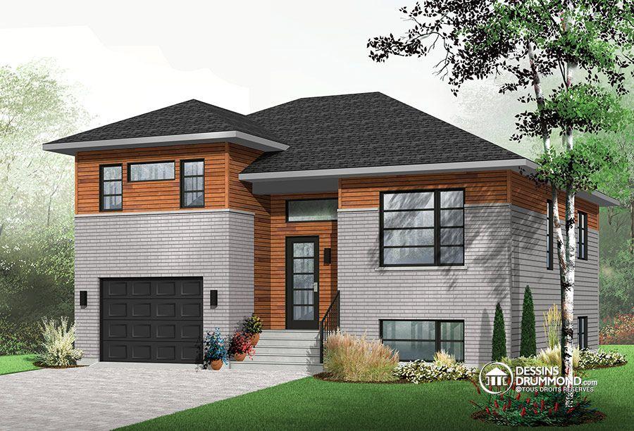 plan de maison moderne split level