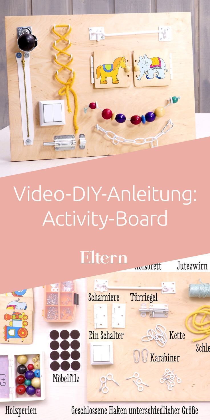 Photo of For babies and toddlers: make your own activity board
