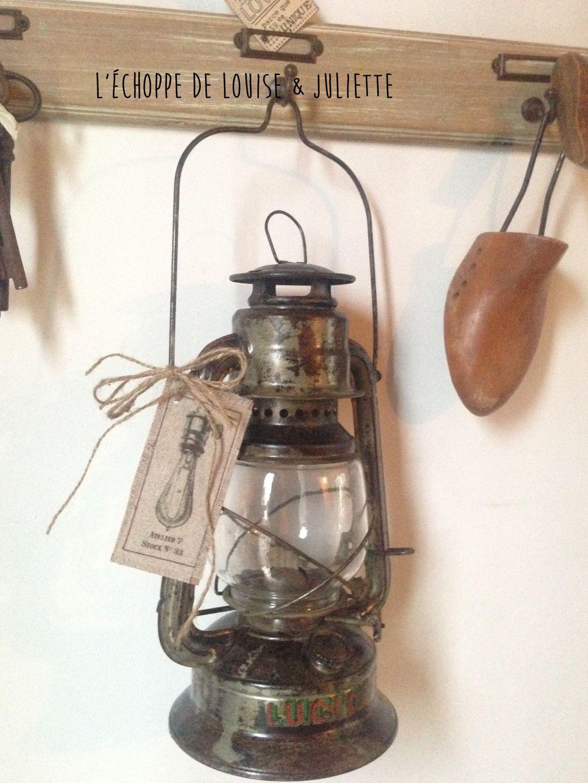 Ancienne Lampe Tempete Luminaires Par Louise Et Juliette Avec