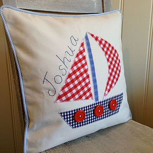Applique Boat Cushion | manualidades | Pinterest | Boating ... on crochet pillow ideas, fall pillow ideas, wuilted pillow ideas, sewing pillow ideas, needle felted pillow ideas, chenille pillow ideas, patchwork pillow ideas, diy pillow ideas, trapunto pillow ideas, easter pillow ideas, christmas pillow ideas, button pillow ideas, handmade pillow ideas,