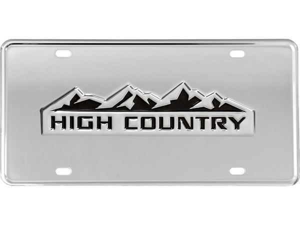 Gatorgear Chevy High Country Logo License Plate Chevy High