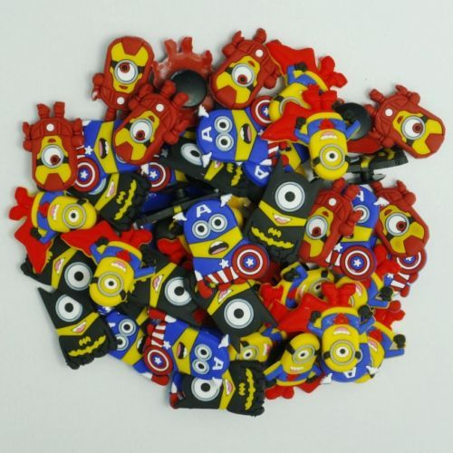 c0bb5a495cfe3 100pcs-Super-Hero-Minions-Shoe-Charms-Decor-for-Coc-Jibbitz-Wristband-Gifts