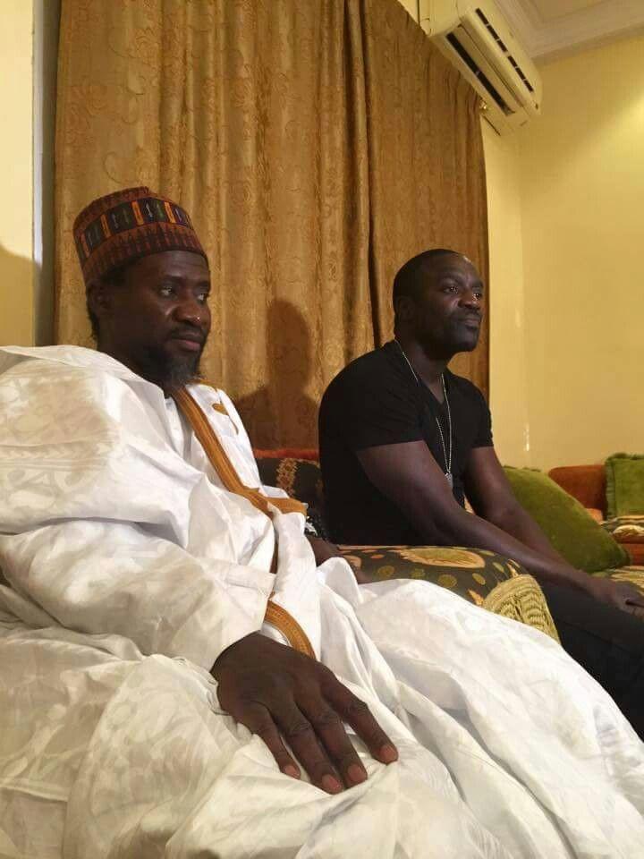Shaykh Mouhamedou Mahy Cisse meeting with Akon  | Shaykh
