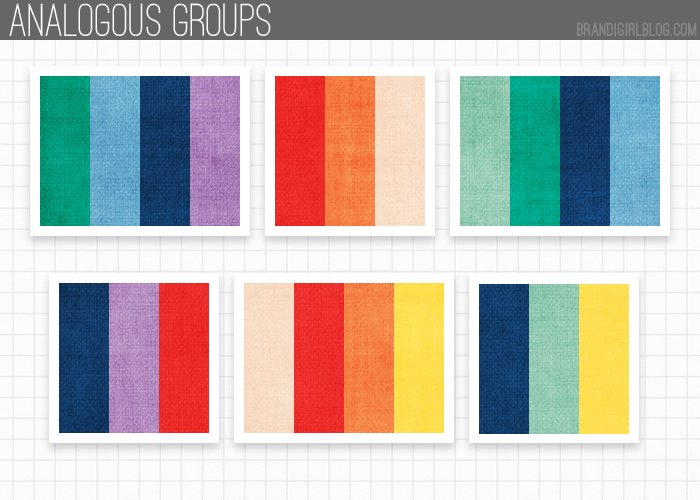 pantone's spring 2013 colors - analogous groups | color palettes