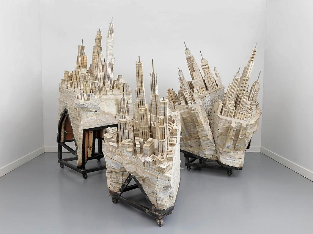 Esculturas con libros de Liu Wei
