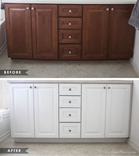 How To Paint Cabinets Without Removing Doors Bathroom Cabinet