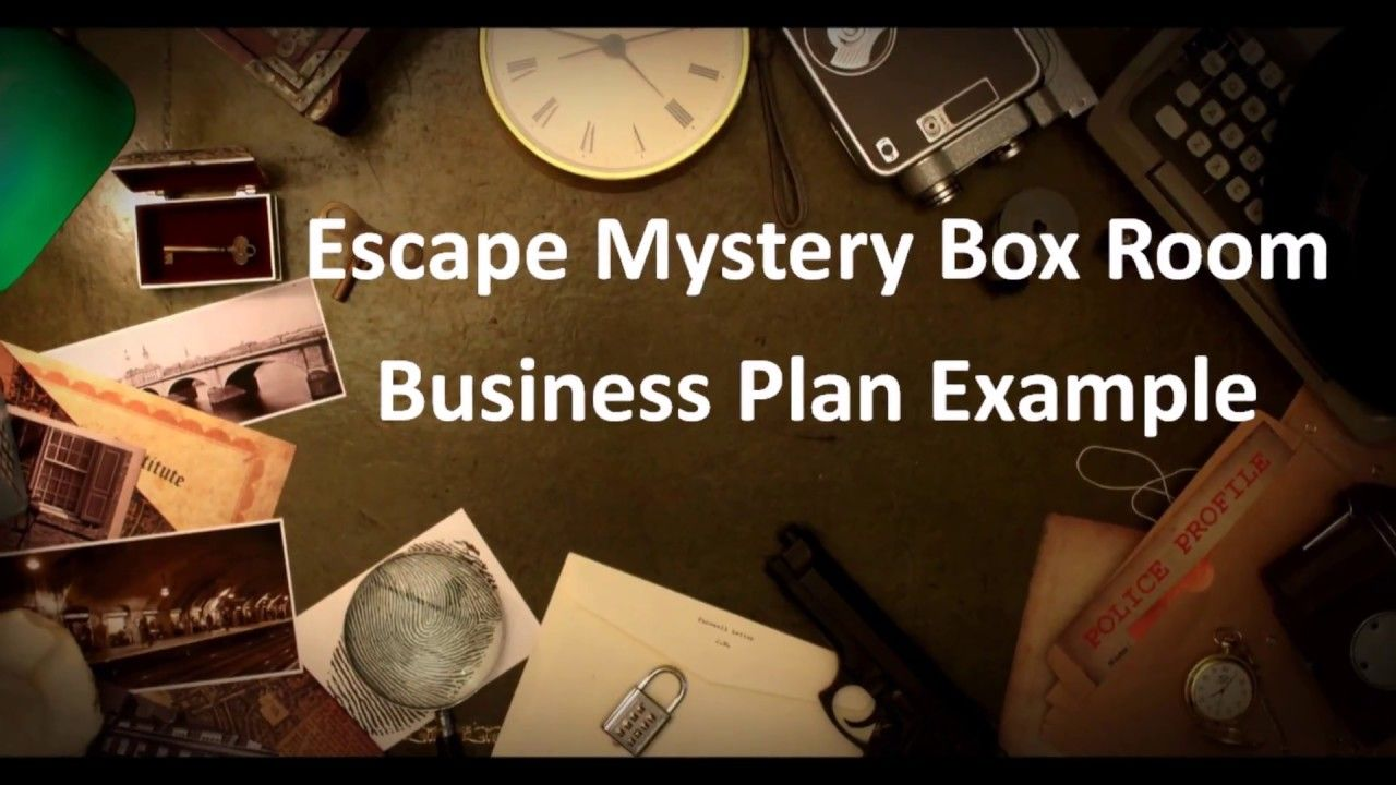 Escape Room Business Plan Example  Business Plan Example