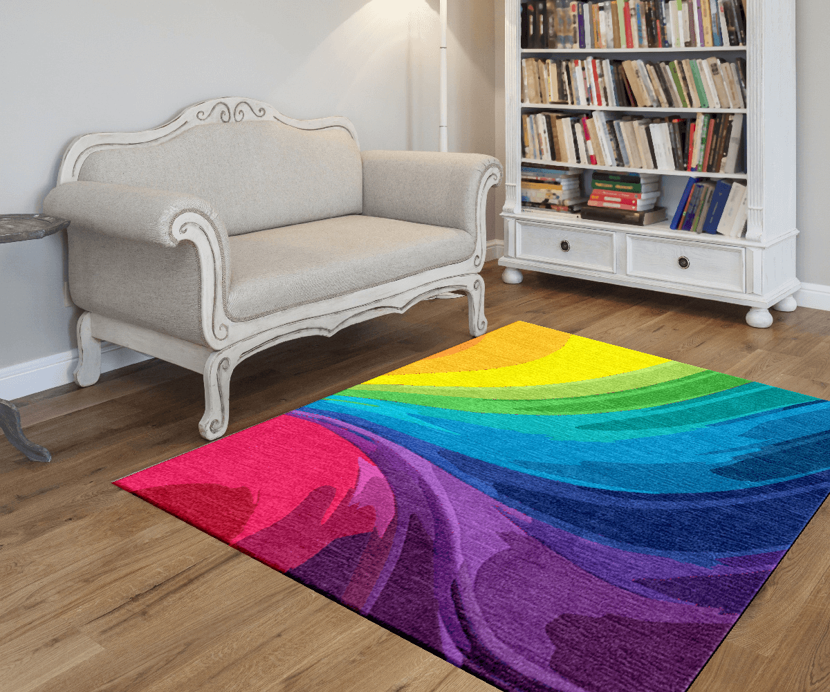 Rainbow Area Rug  Rainbow rooms  Waterproof flooring
