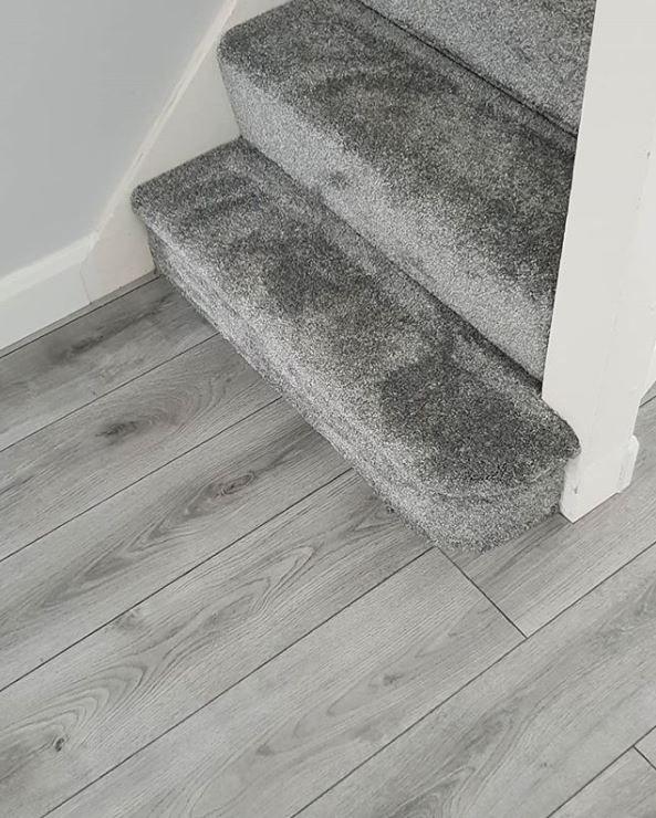 Direct Flooring Fitting: Grey Oak Luxury Vinyl Tile Flooring In