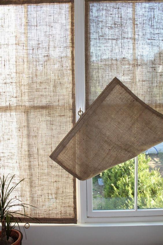 Burlap Shades Decor Pinterest Cortinas, Decoración hogar y - cortinas decoracion