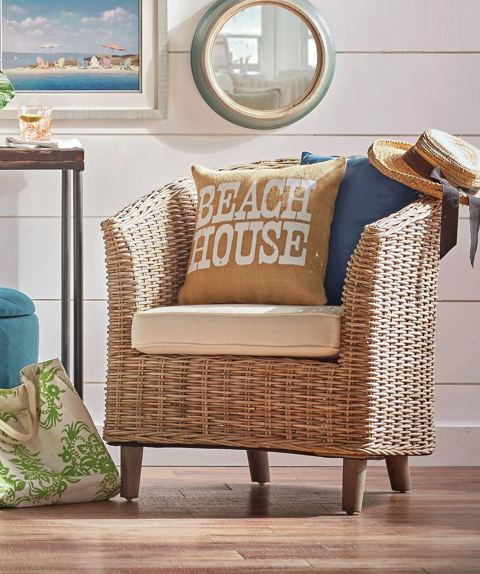 Omni wicker accent chair beach up decor pinterest coastal and