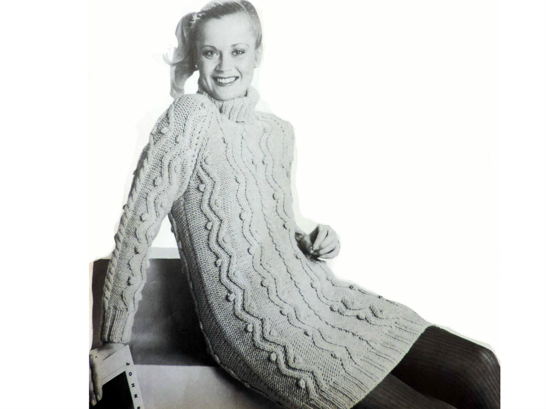 Womens Mini Sweater Dress Knitting Pattern Pdf Ladies Aran Etsy Mini Sweater Dress Sweater Dress Women [ 2250 x 3000 Pixel ]